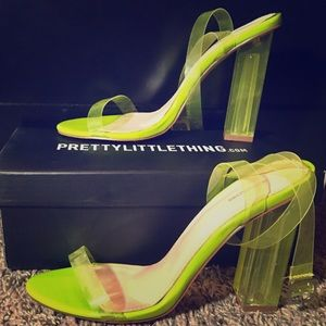 Lime Clear Strappy Heels